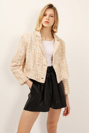 storets.com Grace Pearl Button Tweed Jacket