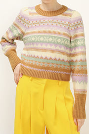 Molly Printed Crop Sweater