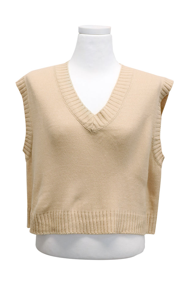 Katie Cropped Knit Vest