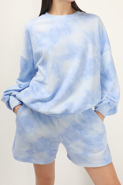 storets.com Holland Tie-dye Sweat Shorts