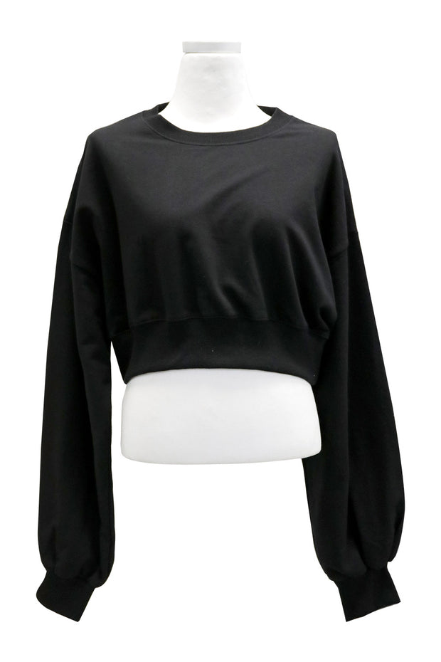 Alina Balloon Sleeve Cropped Sweatshirt