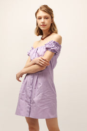 Camila Puff Sleeve Pintuck Dress