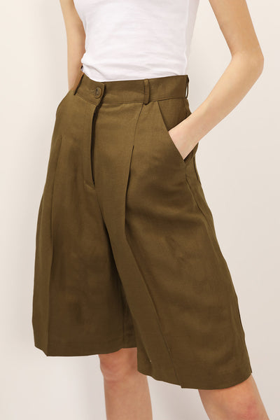 Veronica Pintuck Bermuda Shorts