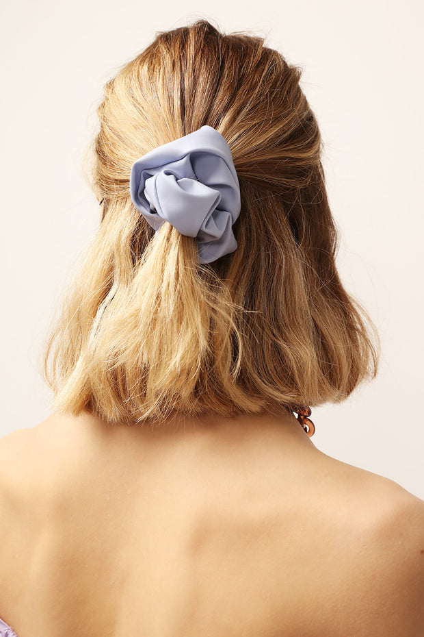 Ruched Pleather Scrunchie