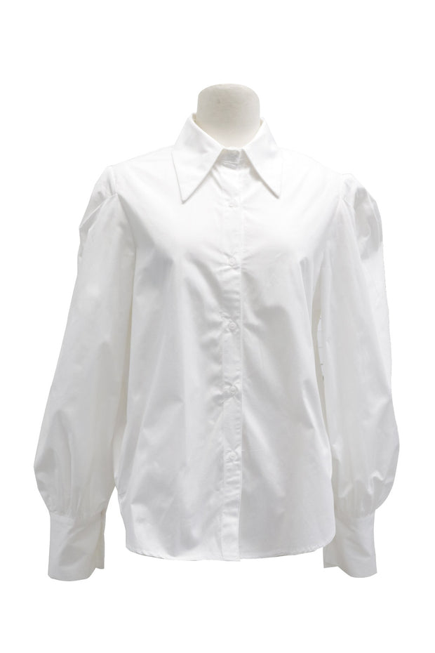 Valerie Ruched Puff Sleeve Shirt