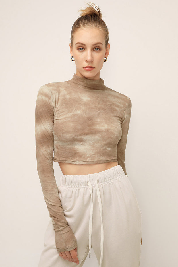storets.com Alexa Tie Dye High Neck Top