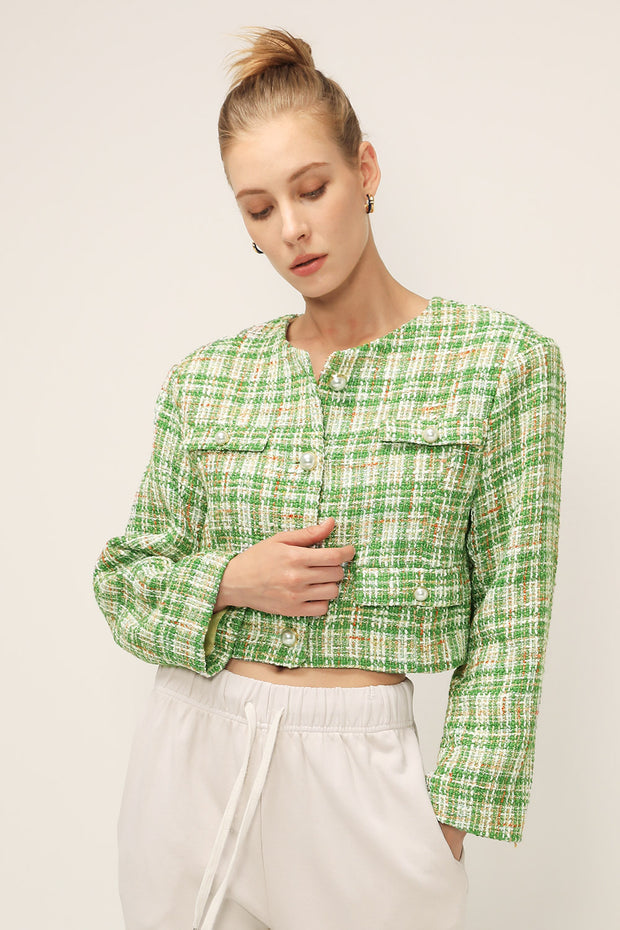 storets.com Ellie Tweed Cropped Jacket