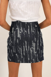 Kailyn Ripped Denim Skirt