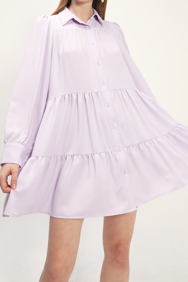 storets.com Kayla Tiered Shirt Dress