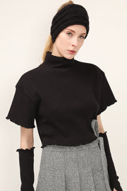 storets.com Kai High Neck Top And Arm Warmer Set