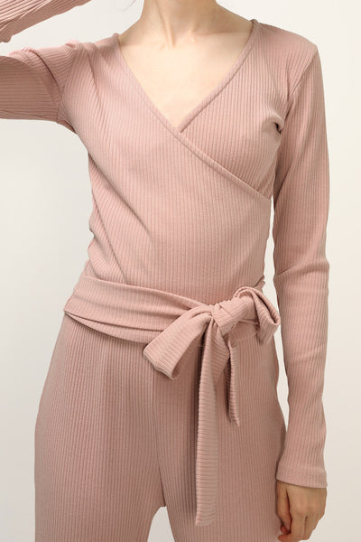 storets.com Lauren Ribbed Wrap Top