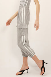 Ava Striped Tube Top And Joggers Set