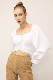 storets.com Sophie Ruched Puffed Top