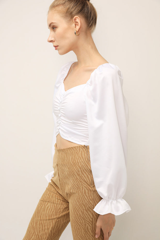 Sophie Ruched Puffed Top