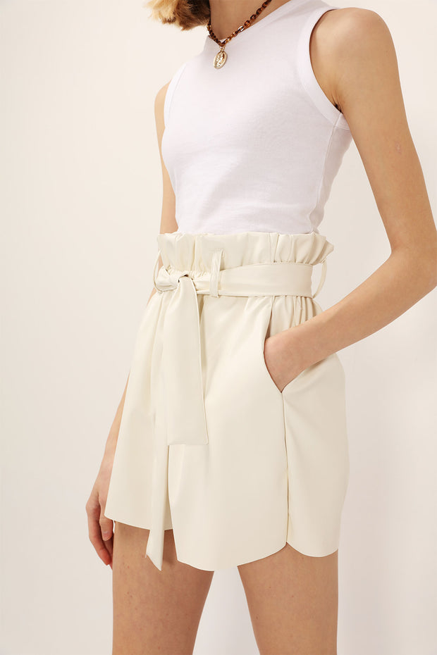 storets.com Margot Paperbag Pleather Shorts