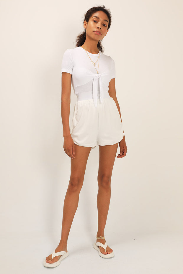 Mia Ribbed Trim Runner Shorts