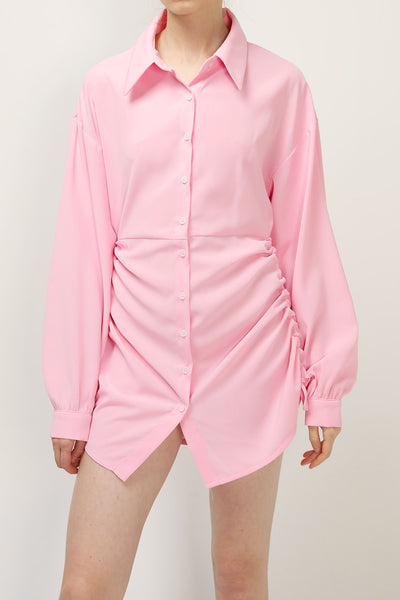 storets.com Zelda Shirred Shirt Dress