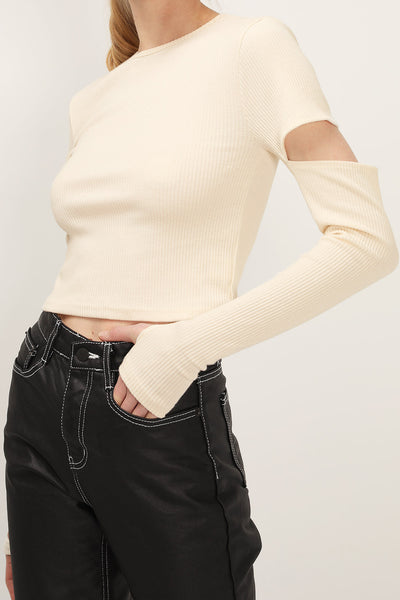 storets.com Leila Cutout Sleeve Top