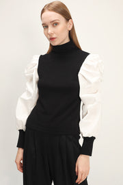 storets.com Alivia Structured Puff Sleeve Top