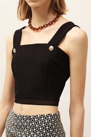 Kelly Mesh Hem Crop Top