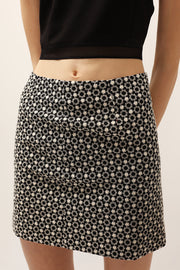 Audrey Flower Embroidered Skirt