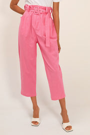 Lucy Linen Belted Pants