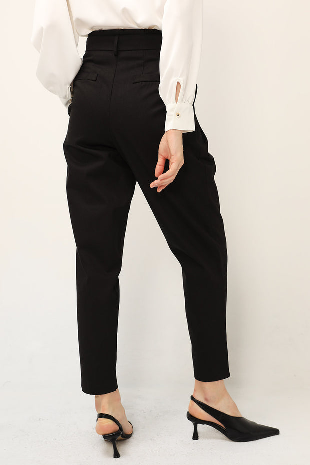 Mia Belted Tapered Pants