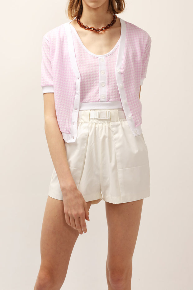 Lucy Gingham Crop Cardigan