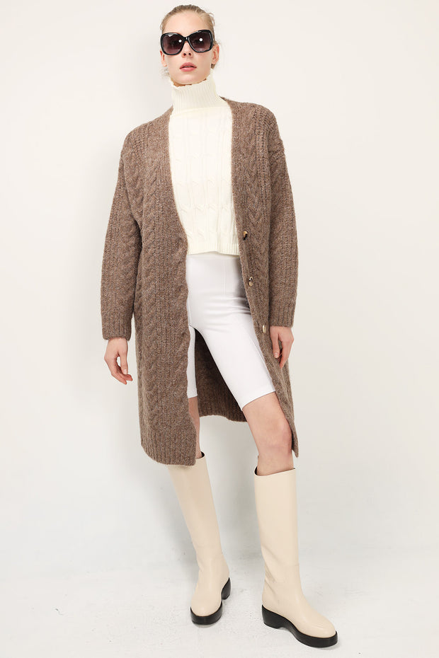storets.com Zoe Cable Knit Cardigan
