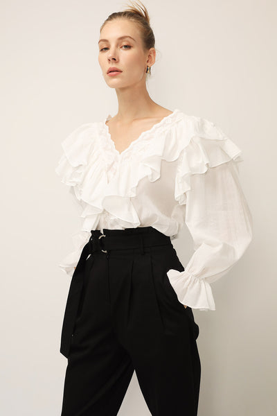 Delilah Tiered Ruffled Blouse