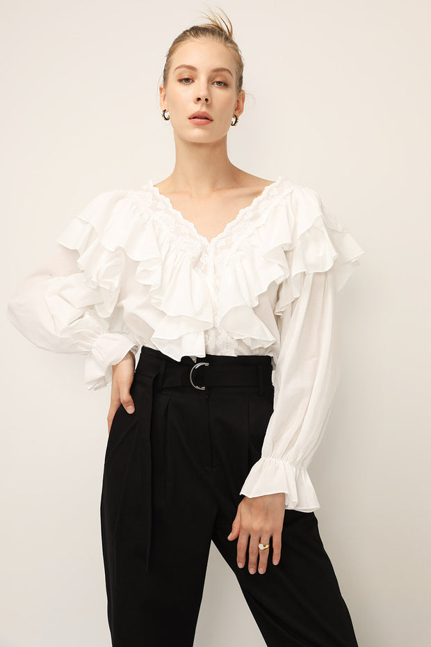 storets.com Delilah Tiered Ruffled Blouse