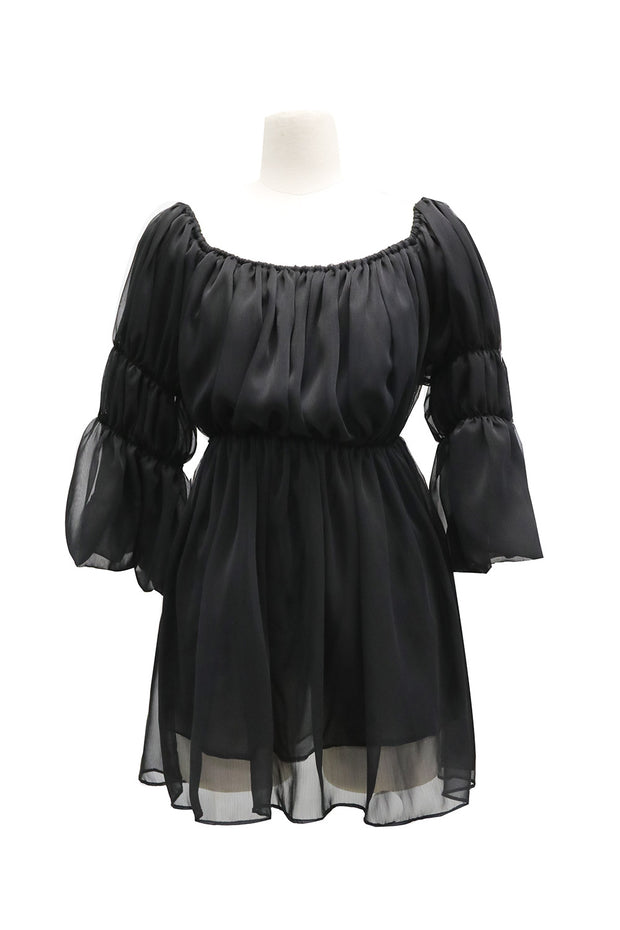 Camila Sheer Smocked Dress