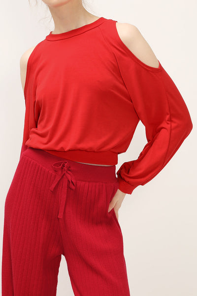 Eva Cut Out Shoulder Top