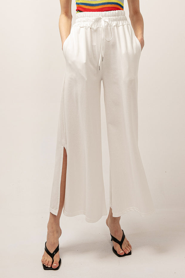 Scarlett Side Slit Wide Pants