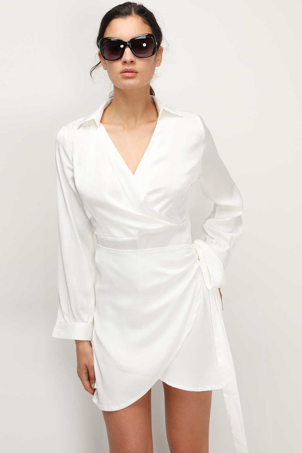 storets.com Ellen Wrapped Shirt Dress