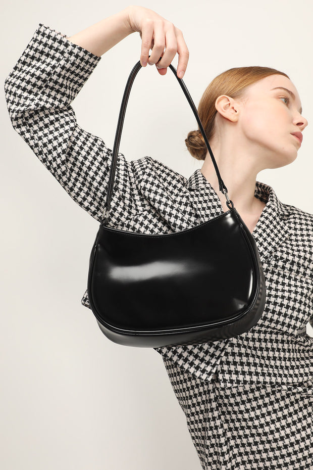 storets.com Pleather Shine Shoulder Bag