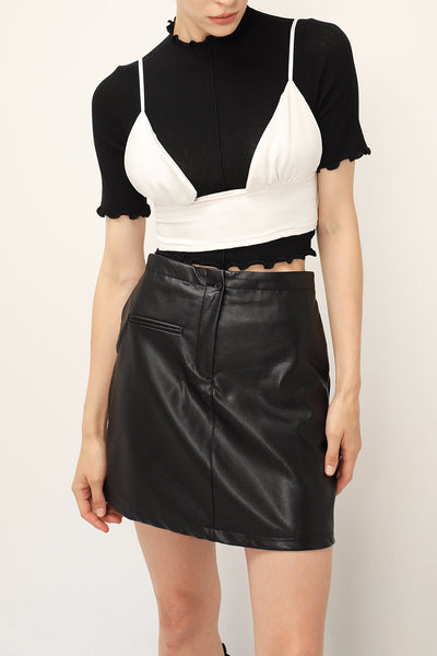 storets.com Claire Pleather Mini Skirt