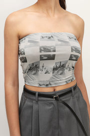 storets.com Nellie Printed Crop Tank Top