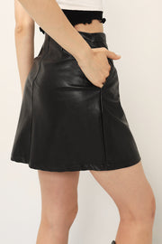 Claire Pleather Mini Skirt