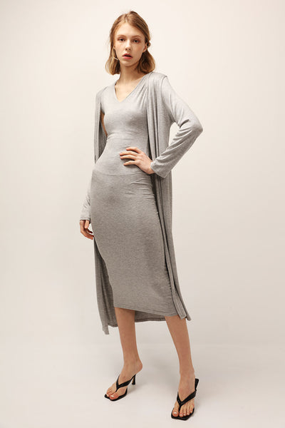 Nevaeh Slouchy Dress And Cardigan Set