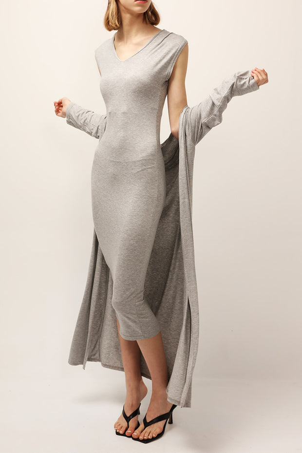 storets.com Nevaeh Slouchy Dress And Cardigan Set
