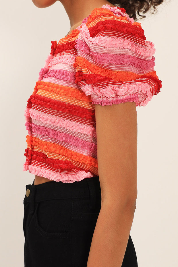 Alaia Textured Stripe Cardigan