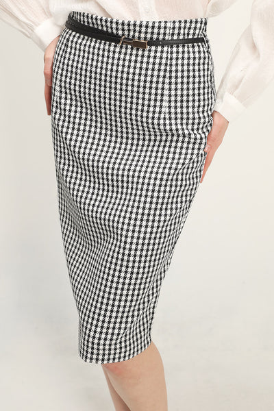 storets.com Alexa Gingham Check Skirt