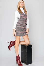 Becki Plaid Vest Dress