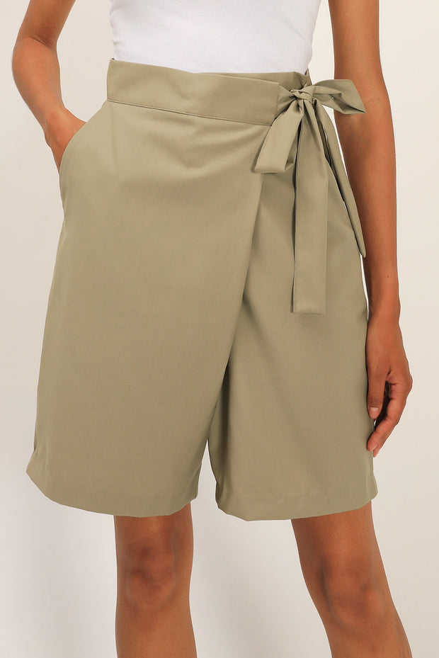 Claire Wrapped Bermuda Shorts