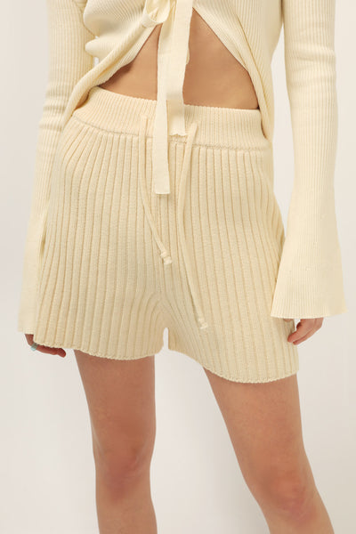Aniya Ribbed Knit Shorts
