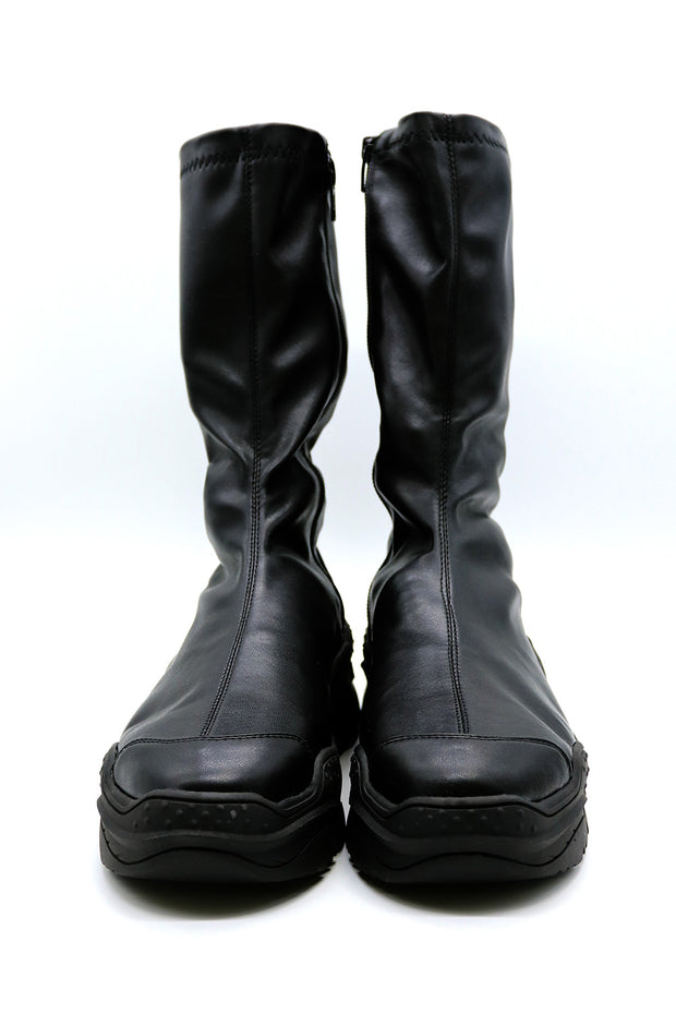 Chunky Platform Pleather Boots