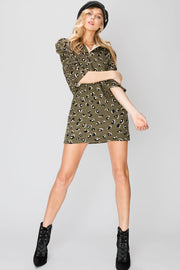 storets.com Zoe Animal Print Collared Dress