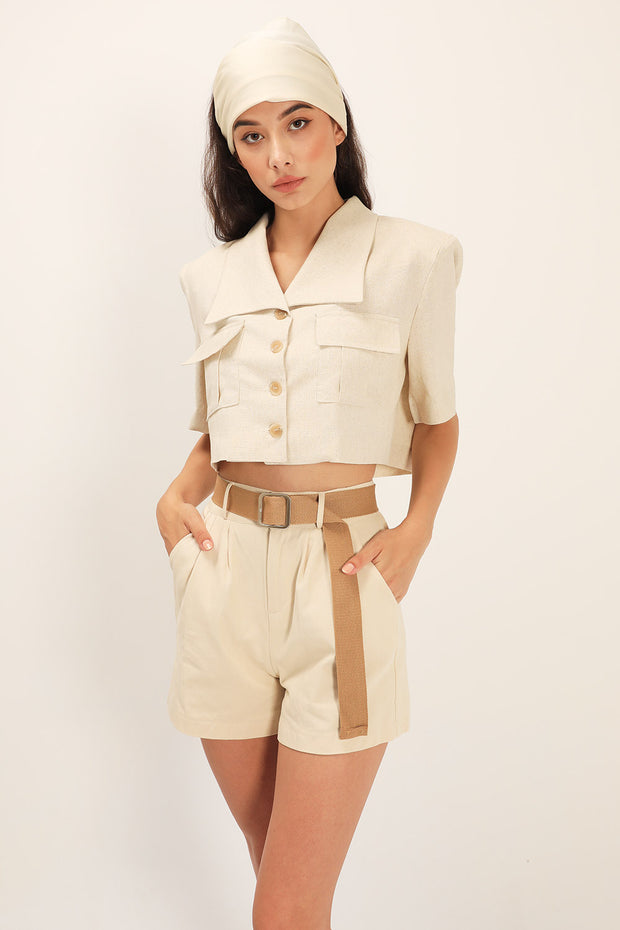 Leah Belted Shorts