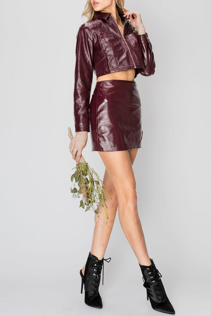 Ianna Pleather Jacket